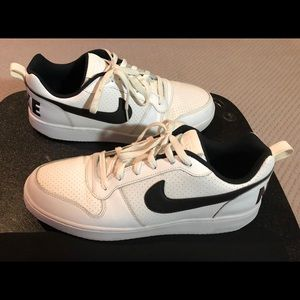 Nike Court Borough Low Basketball White Sneakers